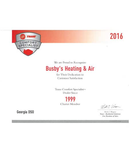 Air Conditioning Comfort Specialist | Busby's Heating and Air Augusta GA